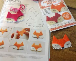 Felt foxie brooches