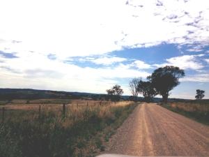 Homeward bound on the gravel road